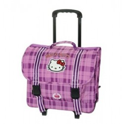 Cartable à roulettes trolley 38 cm Hello Kitty
