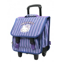 Cartable scolaire à roulettes trolley 38 cm Hello Kitty