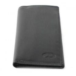 Porte-cartes crédit vertical en cuir lisse