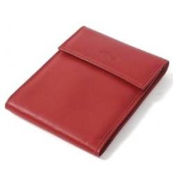 Porte-chéquier long pliant en cuir lisse Katana ref 553005