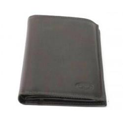 Portefeuille identité en cuir lisse